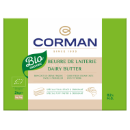 Organic dairy butter 82 % fat - Sheet