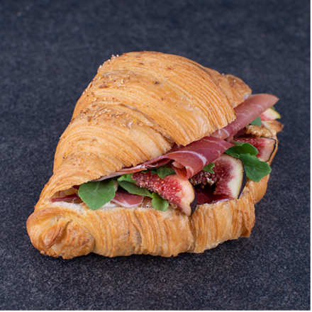 Multigrain croissant with filling