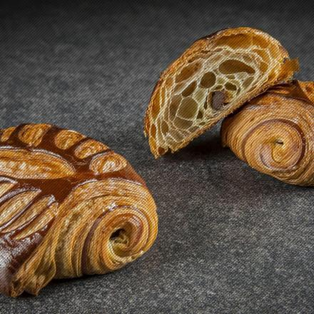 Pain au chocolat with orange